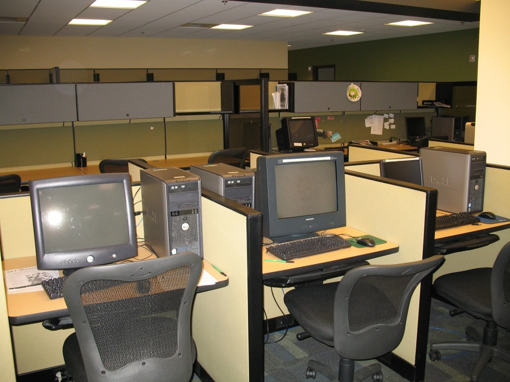 Original configuration of the Convergence area, with many small cubicles.